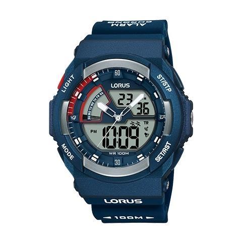 diversamente 02b87 506df LORUS Orologio Uomo Lorus Digitale E Analogico Cronografo Wr 100 Metri -  R2325mx9