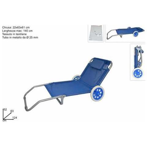 Spiaggina Sdraio Con Ruote.Biacchi Spiaggina Trolley Con Ruote Eprice