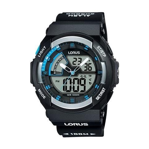 design senza tempo 7a452 bc341 LORUS Orologio Uomo Lorus Digitale E Analogico Sveglia Cronografo Wr 100  Metri - R2323mx9