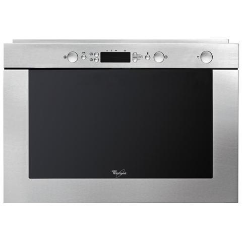 WHIRLPOOL AMW 499 / IX Mini Chef Forno Microonde da incasso Capacità 22  Litri Potenza 750 Watt Colore Inox