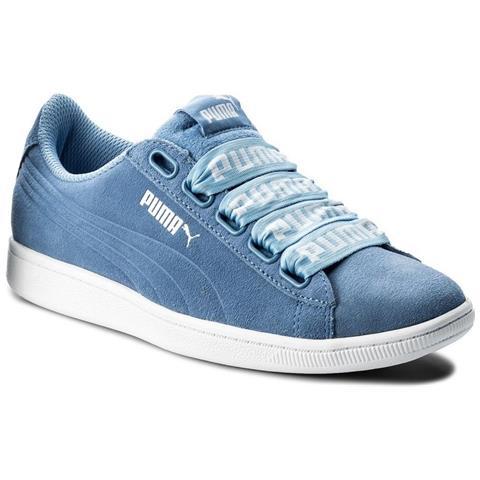 Puma Vikky Ribbon Bold 36531203 azzuro scarpe basse
