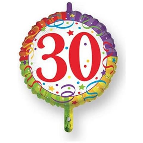 Magic Party Palloncino Mylar 30 Compleanno O 45 Cm Eprice