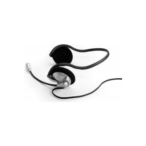 53304 Passanuca Stereofonico Cablato Nero, Argento auricolare per telefono cellulare