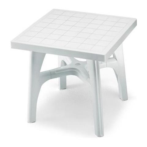 Tavoli Resina Da Esterno.Scab Tavolo Da Esterno Quadromax Smontabile Cm 80x80 Bianco In