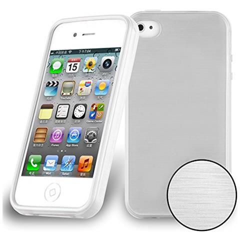 CADORABO Custodia Per Apple Iphone 4 / Iphone 4s In Argento - Morbida Cover Protettiva Sottile Di Silicone Tpu Con Bordo Protezione - Ultra Slim Case ...