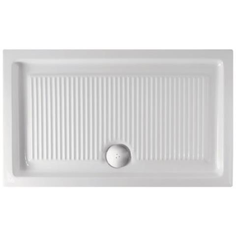 Piatto Doccia 120x70 Prezzi.Ceramica Globo Piatto Doccia Plano 120x70 In Ceramica Smaltata Colore Bianco Installazione D Appogio Scarico Diametro 90 Mm