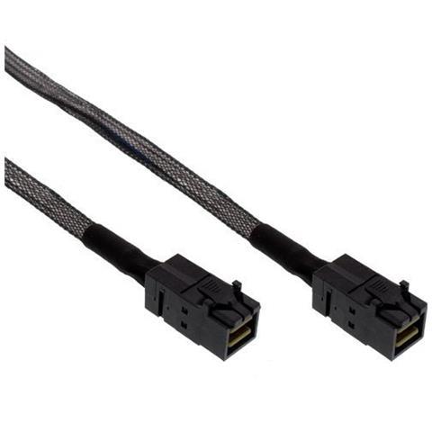InLine Mini SAS HD 1.0m SFF-8643, 4 x SFF-8482/&Power, Negro Cable SAS