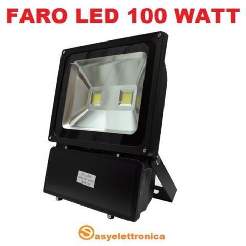Fari Led Per Interni.Easyelettronica Faro Faretto Led Slim Da 100 Watt Nero