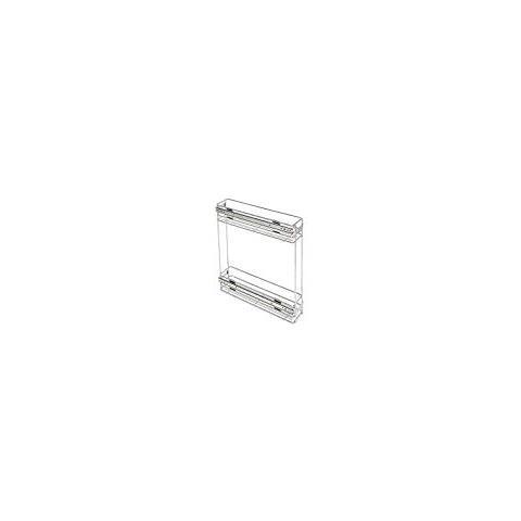 Emuca 8923611 Carrello portabottiglie Estraibile per Mobile di Cucina in Acciaio Cromato
