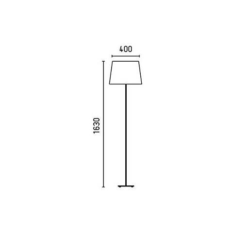 metallo colore: bianco protezione schermo Proiettore Barcellona Sweet 29958-Sobremesas e lampade da pavimento 20W in tessuto