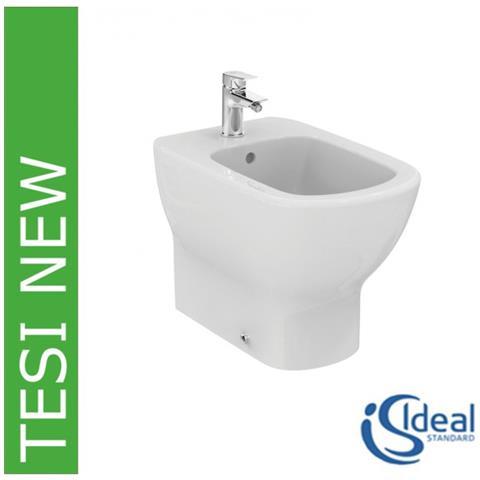 Ideal Standard serie TEsi New T3540 Bidet a terra filo muro bianco