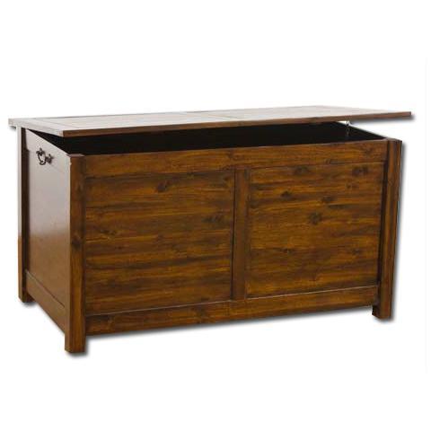 HOMEGARDEN Cassapanca baule in legno per arredo esterno e interno cm 70x39