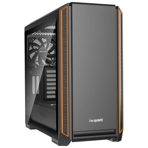 ! Silent Base 601 Window Midi-Tower Nero, Arancione vane portacomputer