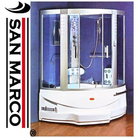 Vasca Da Bagno Con Doccia Incorporata.San Marco Vasca Da Bagno Idromassaggio Con Doccia 130x130x218 Cm
