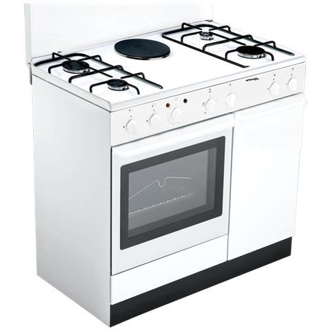 BOMPANI - Cucina Elettrica BI940EA / L Ecoline 4 Fuochi Gas + 1 ...