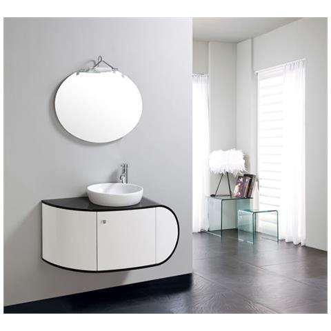Loyalprice - Mobile Bagno Pensile 100cm Bianco Nero Completo ...