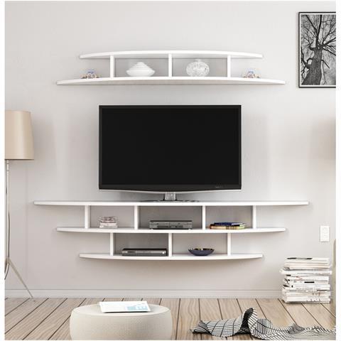 Parete Mobili Porta Tv Design.Homemania Mobile Porta Tv Alvino Moderno Da Parete Con Mensola