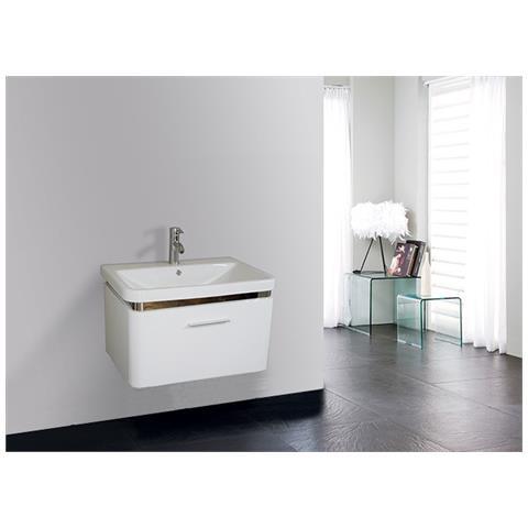 Loyalprice - Mobile Bagno Pensile Bianco Da 70 Cm Con Rubinetteria E ...