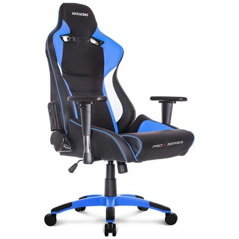 Sedia Gaming Akracing.Akracing Sedia Gaming Prox Colore Nero Blu