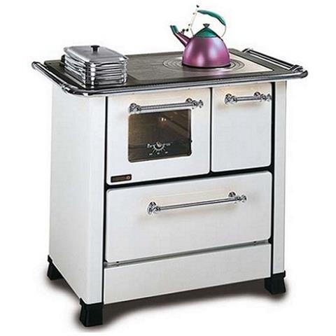 Cucina A Legna Nordica Romantica 4 5.La Nordica Cucina A Legna Romantica 4 5 Sx Acciaio Porcellanato