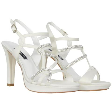Scarpe Sposa Bianco Seta.Albano Scarpe Decolte Sandalo Sposa Wedding Albano 2014 Bianco