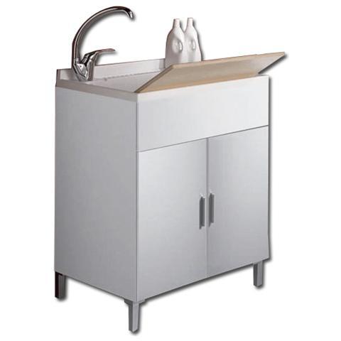 HOMEGARDEN - Mobile Bagno Lavatoio Vaschetta bianco