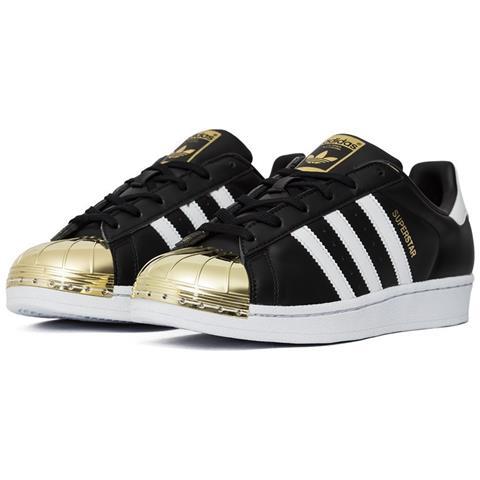 Adidas Superstar Metal Toe Gold Metallic Bb5115 Colore: Bianco nero oro Taglia: 38.0