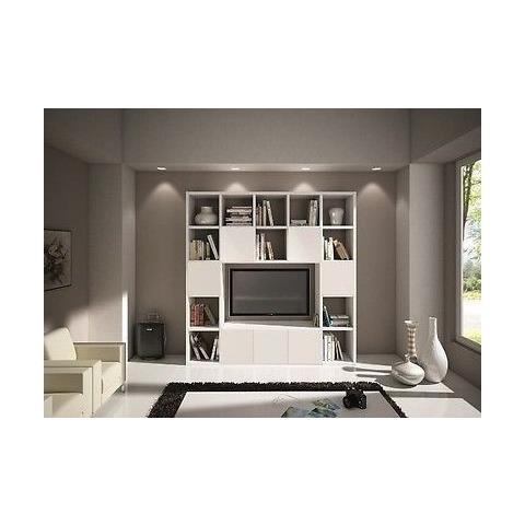 Estea Mobili - Libreria Parete Moderno Soggiorno Porta Tv Legno ...