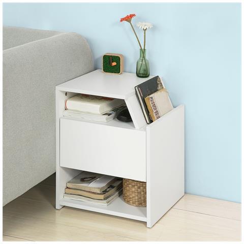 SoBuy - Frg261-w, comodino Letto Design, Tavolino Da Salotto O ...