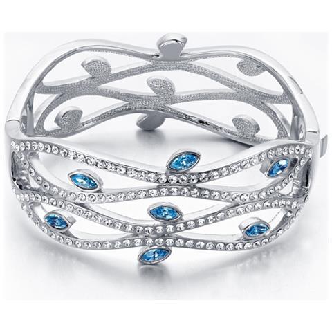 7a96fc040ac1dc Blue Pearls - Bangle Bracciale Cristallo Swarovski Elements Blu E Bianco -  Cry E171 J - ePRICE