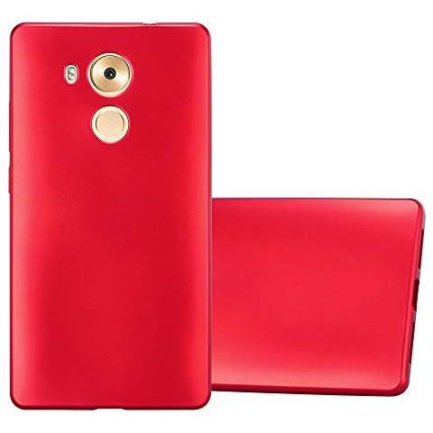 Cadorabo Custodia Per Huawei Mate 8 In Rosso Metallico - Morbida Cover Protettiva Sottile Di Silicone Tpu Con Bordo Protezione - Ultra Slim Case ...