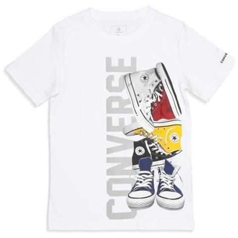CONVERSE T shirt Con Stampa C Bl 1 Colore: Bianco Taglia: 1012 Anni