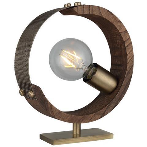 Homemania Lampada Da Tavolo Manya Da Ufficio Camera Salotto Oro Legno Metallo Legno 6 X 22 X 25 Cm 1 X E27 40w Eprice