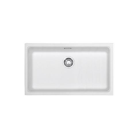 FRANKE Lavello KBG110-70WH 1 Vasca Dimensioni 74 x 41 cm Colore Bianco  Serie Kubus Sottotop