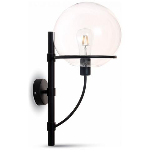 Lampade Esterno Parete.V Tac Lampada Da Muro E27 Applique Da Parete Ip65 Esterno Nero Con Vetro Trasparente Vt 7226 3864