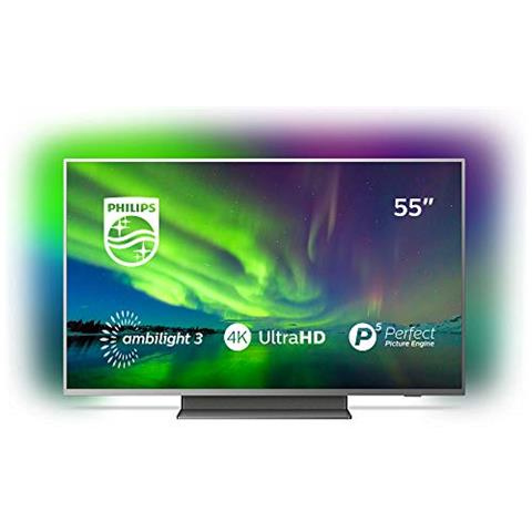 Philips Tv Led 4k Ultra Hd 55 55pus7504 12 Android Tv Colore Grigio Eprice
