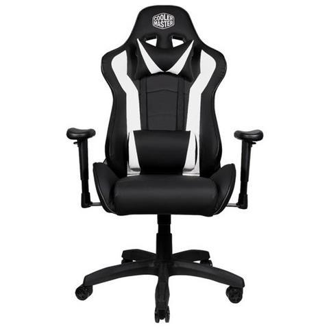 Sedia Gaming Caliber R1 in Pelle Colore Nero / Bianco