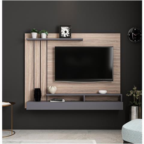 Homemania Mobile Porta Tv Lawrance Moderno Da Parete - Con Ripiani - Da  Salotto - Antracite In Legno, 157 X 21 X 120 Cm