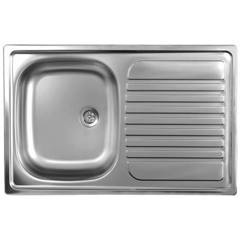 ARGONAUTA Lavello Cucina Vasca Acciaio Inox Da Incasso Gocciolatoio Dx  50x79 Cm