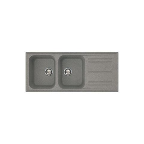 SMEG - Lavello LZ116TT 2 Vasche con Gocciolatoio Dimensioni 116 x 50 ...