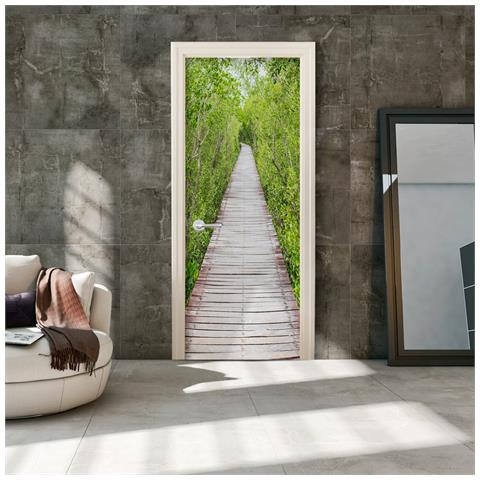 Carta Da Parati Per Porte.Artgeist Carta Da Parati Per Porta The Path Of Nature 90x210cm