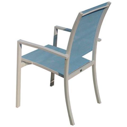 Sedie Da Giardino Alluminio.Papillon Sedia Da Giardino In Alluminio Textilene Azzurro Mod