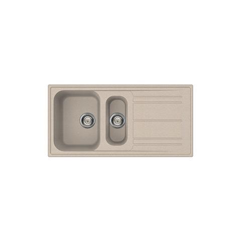 SMEG - Lavello LZ102AV 1 Vasca e 1 Vaschino Dimensioni 100 x 50 cm ...