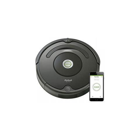 IROBOT Robot Aspirapolvere Wifi Roomba 676 Colore Grigio Antracite
