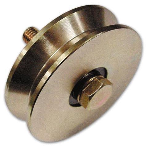 Ruota Gola a V ad 1 Cuscinetto per Cancelli Ø 80 mm Spessore 20 mm Fc 300 1 PZ
