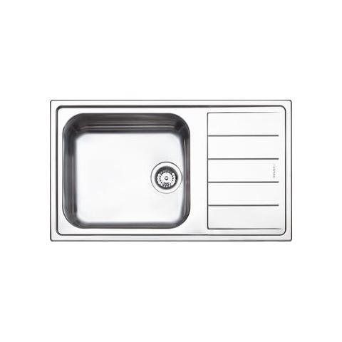 Misure Lavello Cucina Una Vasca.Apell Lng861irbc Lavello Da Incasso 1 Vasca Con Gocciolatoio Dimensioni 86 X 50 Cm Colore Inox Eprice