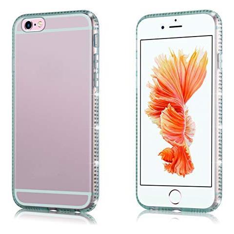 Cadorabo Custodia Per Apple Iphone 6 / Iphone 6s In Verde Trasparente - Custodia Per Telefono In Silicone Tpu Con Design Di Strass - Custodia ...