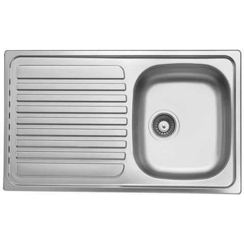 ARGONAUTA Lavello Cucina Vasca Acciaio Inox Da Incasso Gocciolatoio Sx  50x86 Cm