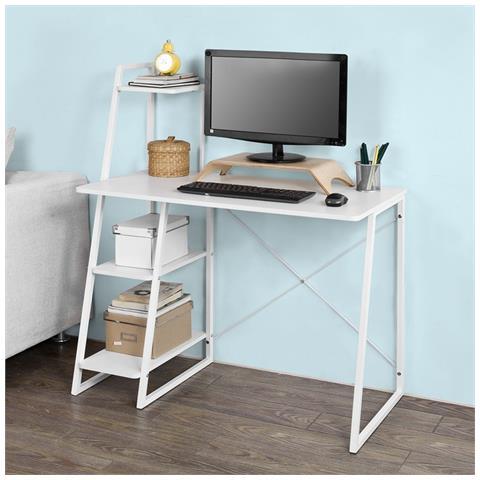 SoBuy - Scrivania, porta Pc, tavolo per computer con due ripiani ...