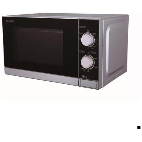 Forno Microonde con Grill R600IN Capacità 20 Litri Potenza 1000 Watt Colore Grigio